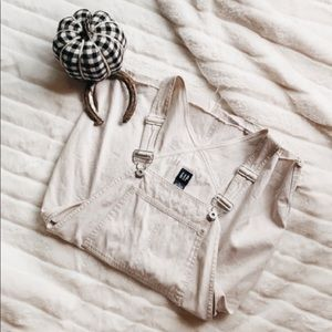 Gap - White Denim Overall Dress
